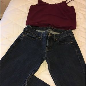 Express Stella Barely boot jeans size 4S